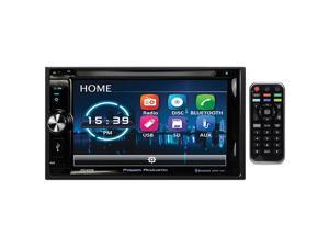 "Power Acoustik 6.2"" Double Din Receiver with Bluetooth & Detachable Faceplate with Padded Carry Case"