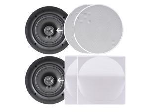 """Pyle PDIC106 10/"""" In-Wall In-Ceiling Dual Stereo Speakers 250 Watt 2-Way Pair"""