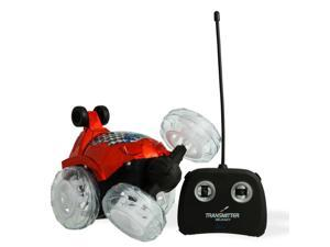 Red RC Remote Controlled Stunt Car with 360? Front Wheels for Flipping, Spinning and Racing, Lights Up And Music by Dimple