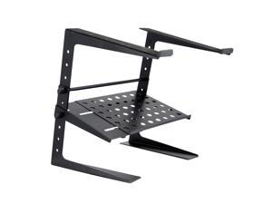 Pyle Pro PLPTS26 Laptop Computer Universal Stand for DJ with Storage Shelf Black