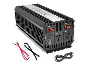 Plug in Car 3,000 Watt 12v DC to 115 Volt AC Power Inverter w/ Modified Sine Wave & 5 Volt USB Outlet