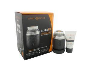 Alpha Fit Sonic Cleansing System - Gray by Clarisonic for Men - 4 Pc Kit Alpha Fit - Gray, USB Enabled Universal Voltage Charger, Men's Daily Cleansing Brush Head, 1oz Alpha Cleanse