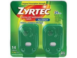 Zyrtec Allergy Relief (10 mg), 14-Count Tablets