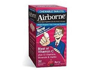 Airborne 20221 -  Immune Support Chewable Tablet, Berry