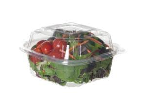 """Eco-Products EP-LC6 6"""" x 6"""" x 3"""" Plastic Clear Clamshell (Case of 240)"""