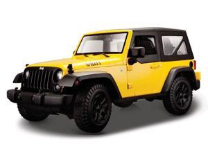 Maisto 1/18 2014 Jeep Wrangler Yellow
