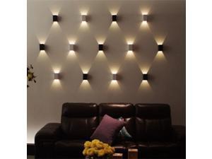 AGPTEK Modern 3W LED Square Wall Lamp Hall Porch Walkway Living Room Light Bedroom Light Luz dormitorio