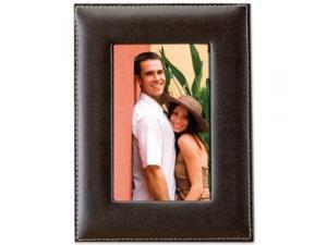 Lawrence Frames 685257 Lawrence Frames Dark Brown Leather 5x7 Picture Frame