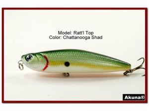 "Akuna Ratt'l Top 4"" Topwater Fishing Lure"