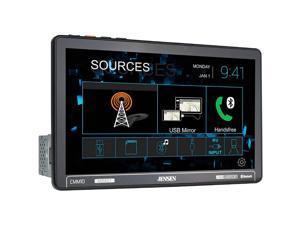 "Jensen CMM10 10.1"" LED Single DIN Touchscreen Multimedia Receiver with USB Screen Mirroring"