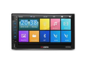 "XO Vision XOD1651MC 2-DIN Touch Display 7"" USB SD FM Car Audio Bluetooth Stereo"