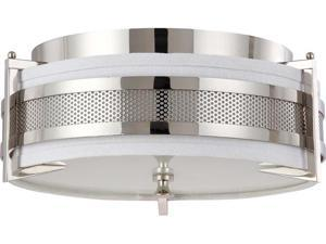 Nuvo Diesel - 3 Light Medium Flush w/ Slate Gray Fabric Shade