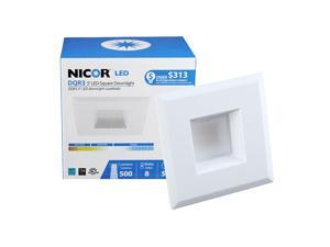 NICOR 3 in. White Square LED Recessed Downlight in 2700K