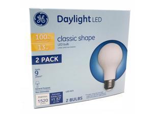 2 PK - GE 13W A21 Classic Shape LED Light Bulb - 5000K Daylight - 100w Equiv.