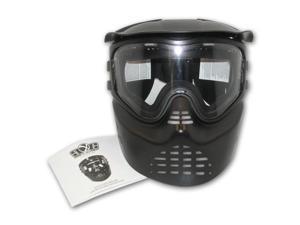 Black GXG XVSN No Fog Goggle System Paintball Airsoft Stealth Goggles Mask + Flex Visor
