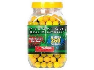 Predator .50 caliber paintballs 250 jar Splatballs YELLOW splat master flexball zball
