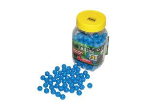 Predator .50 caliber paintballs 250 jar Splatballs BLUE splat flexball zball