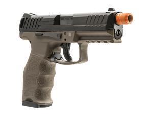 T4E Umarex Airsoft H&K VP9 DEB Gas Blowback Auto Pistol Black/Tan KWA metal GBB Dark Earth Brown 2275025