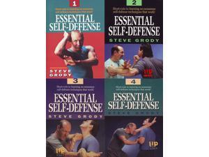 4 DVD SET Essential Self-Defense by Steve Grody mma filipino martial arts kali