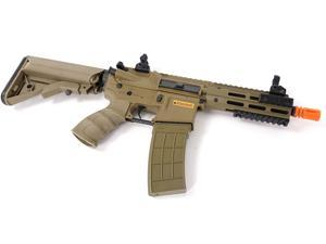 "Airsoft Tippmann Metal Recon AEG M4 CQB + MOSFET Shorty 6"" Barrel Earth Tone Tan"