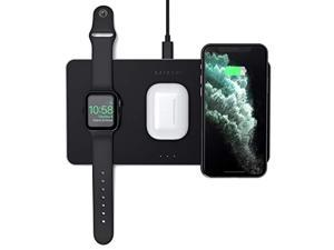 Satechi Trio Wireless Charging Pad - Qi-Certified - Compatible with iPhone 11 Pro Max/11 Pro/11, AirPods Pro, Apple Watch Series 5/4/3/2/1