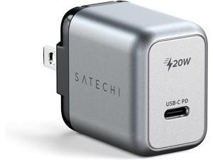 Satechi 20W USB-C PD Wall Charger – Supports Power Delivery – Compatible with 2021 iPad Pro M1, 2020/2018 iPad Pro, 2020 iPad Air, iPhone 13 Pro Max/13 Pro/13 Mini/13 (US)