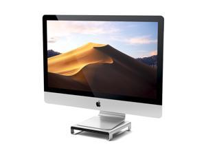Satechi Type-C Aluminum Monitor Stand Hub with USB-C Data, USB 3.0, Micro/SD Card Slots & 3.5mm Headphone Jack - Compatible with iMac Pro, 2019/2017/2016 iMac (Silver)