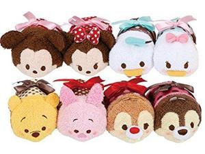 Tsum Tsum Plush / Smartphone Cleaner St. Valentine's Day (S) 8 Pieces Set a Limited Production (Japan Import)
