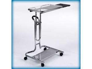 Laptop Cart With Mouse Pad in Chrome and Clear Finish by Studio Designs