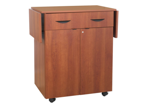 Hospitality Service Cart in Cherry by Safco