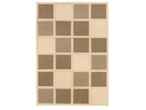 SUPER INDO NATURAL  TEXTURED SQUARE Rug (size: 9.6X13) By Couristan shape:RECTANGLE