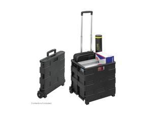 Safco Stow And Go Rolling Cart 16-1/2 x 14-1/2 x 39 Black 4054BL