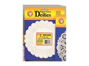 DOILIES 4 WHITE ROUND 100/PKG