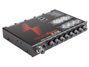 Precision Power PPI E.DZ 7-Band Dual Zone Graphic Equalizer with Auxiliary Input and Independent Subwoofer Control