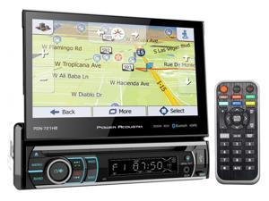 "Power Acoustik PDN-721HB 7"" 1-Din Car Bluetooth Receiver w/DVD/GPS/Navigation"