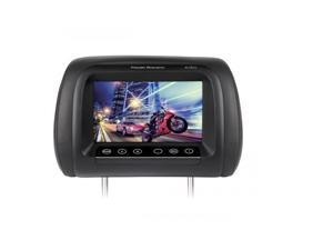 "Power Acoustik H-78CC Universal Replacement Headrest w/ 7"" LCD (3 Changeable Color Skins)"