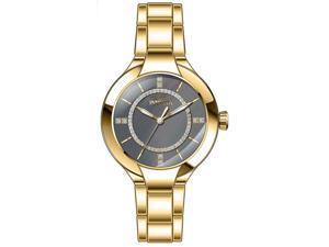 Invicta Women's Angel Quartz Grey Dial Gold Tone Stainless Steel Watch 29324