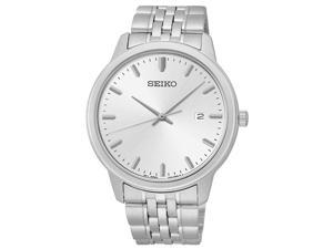 Seiko Men's SUR091 Analog Japanese Quartz Silver Tone Dial Stainless Steel Watch