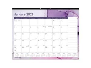 Blueline Trendy Monthly Desk Pad, 22 x 17, Quartz, 2021 C194125
