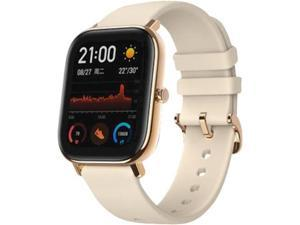 """Amazfit GTS Smartwatch, 1.65"""" AMOLED Display, Slim Metal Body, Smart Notifications, Activity Tracking, 14-Day Battery Life, Water Resistance, Desert Gold"""