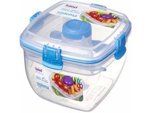 Sistema Salad to Go 4 Piece Tupperware Container Set 21356ZS