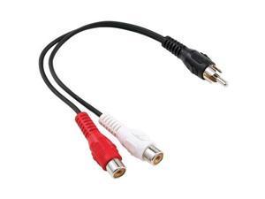 Petra SEI 255-010 (C1736/BK/ 1 RCA Plug to 2 RCA Jacks Y-Adapter