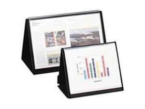 "Lion Office Products Display Book Vertical Easel 8-1/2""x11"" Black 39009"