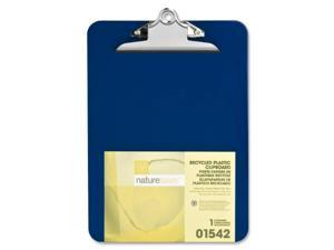 """Nature Saver Plastic Clipboard Recycled 1"""" Cap 9""""x12"""" Blue 01542"""