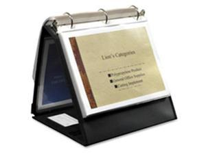 "Lion Office Products Ring Binder Easel 3/4"" Cap Horizontal 11""x8-1/2"" Black"