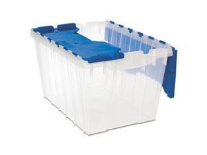 """Akro-Mils Storage Box 12-Gallon 15""""x21-1/2""""x12-1/2"""" Clear/Blue 66486CLDBL"""