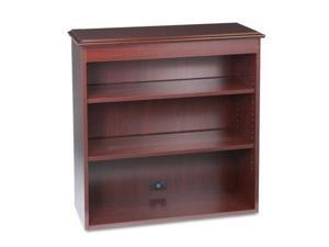 """HON 94000 Series Bookcase Hutch - 35.8"""" x 14.3"""" x 37"""" - 3 Shelve(s) - Traditional Edge - Material: Particleboard, Brass,"""