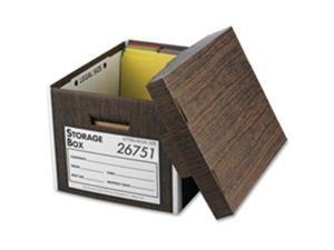 "Business Source Storage Boxes w/Lid Ltr/Lgl 650 lb 10""x12""x15"" 12/CT WN 26751"