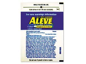 Aleve Naproxin Tablets 220mg Refill Pack One Tablet/Packet 30 Packets/Box 51030