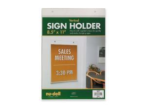 "Nudell Wall Sign Holder Vertical 8-1/2""x11"" Clear 38011"